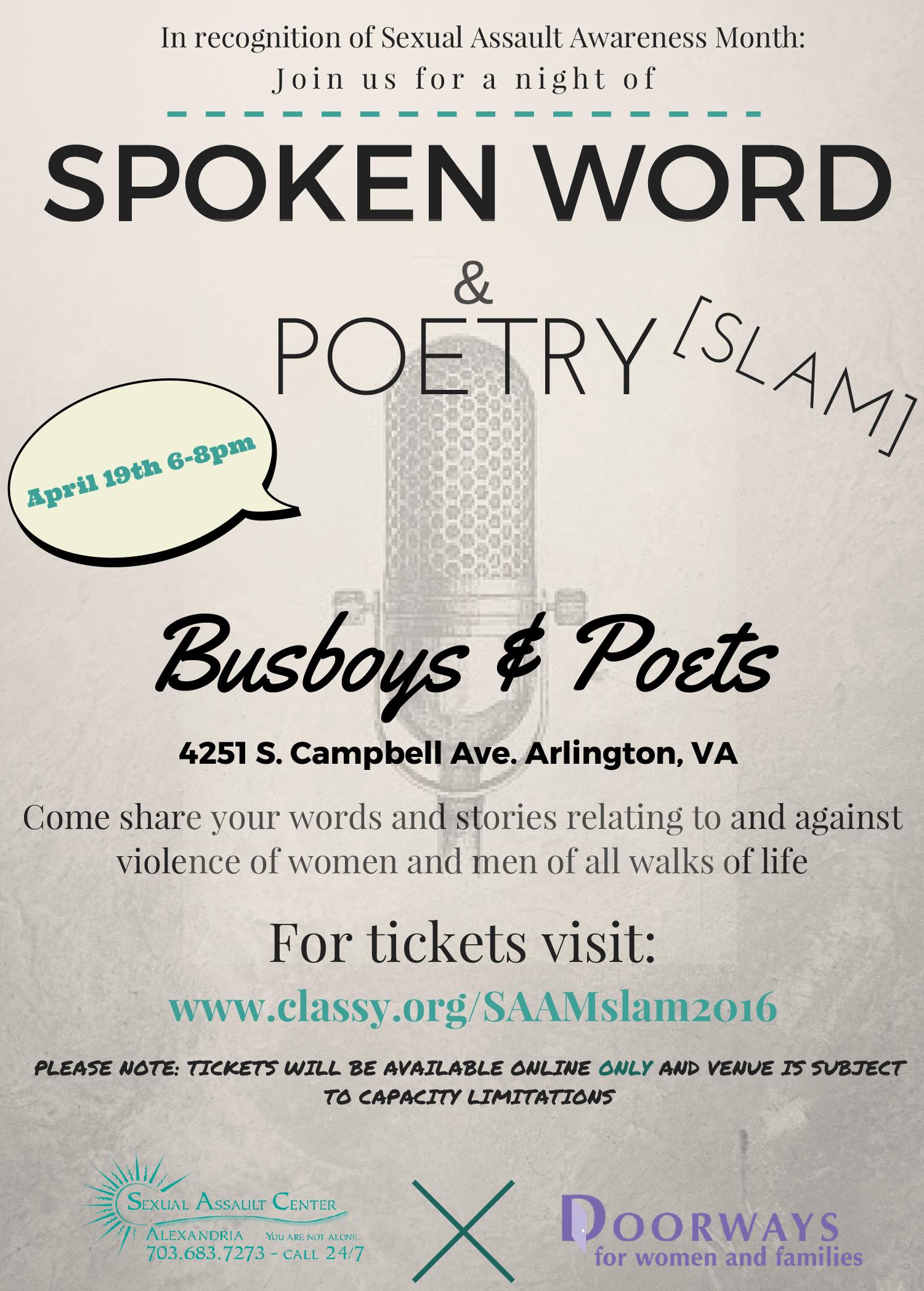 Poetry Slam 2016 | Doorways for Women and Families